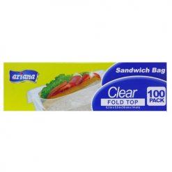 Ariana Sandwich Bag Fold To 100ct Clear