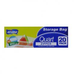 Ariana Storage Bag 1 Quart Zipper 20ct