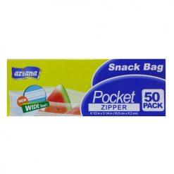 Ariana Snack Bag Pocket Zipper 50ct