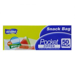 Ariana Snack Bag Pocket Zipper 50ct