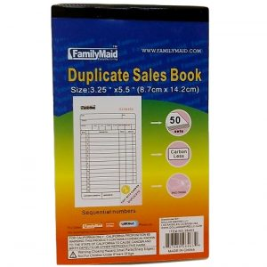 Duplicate Sales Book 3.25 X 5.5in