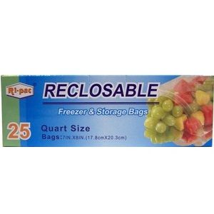 Ri-Pac Freezer AND Storage Bags 1qt 25p