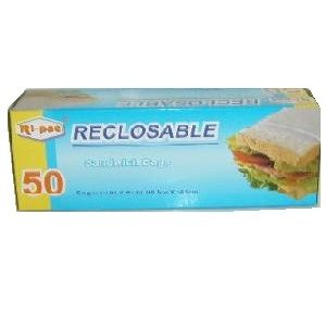 Ri-Pac Sandwich Bags 50ct W-Zipper