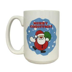 X-Mas Mug 15oz W-Santa Design