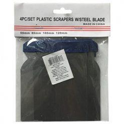 Scrapers W-Steel Blade 4pc