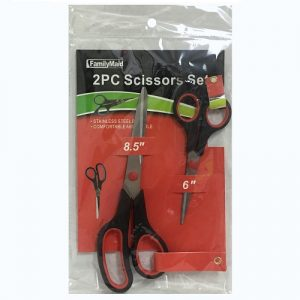 Scissors 8.5in 2pc Asst Clrs