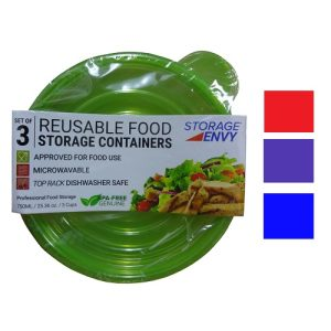 Food Containers 3pc Rnd Asst Reusable