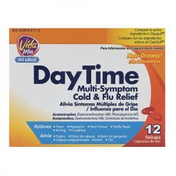Vida Mia Day Time Cold AND Flu 12 Gel Caps