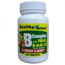H.S B Complex W-Folic B-6 AND B-12 30ct