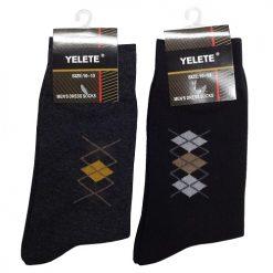 Yelete Mens Dress Socks 10-13 Solid Clrs