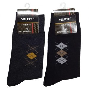 Yelete Mens Dress Socks 10-13 Solid Clrs