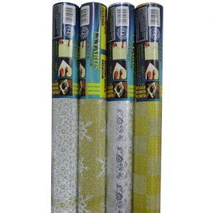 Shelf Liner W-Glitter Asst 1.5 Yrds