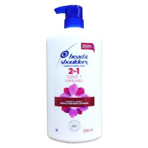 H AND S 2 In 1 Shampoo 1 Ltr Suave Y Manej