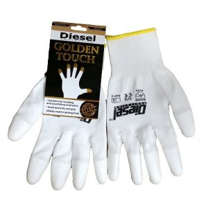 Diesel Golden Touch White Gloves Sml