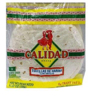 Calidad Soft Taco Flour Tortillas 8in 8c