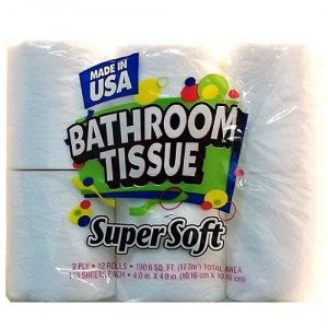 Super Soft Bath Tissue 12ct 143 Sheets