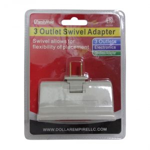 3 Outlet Swivel Adapter