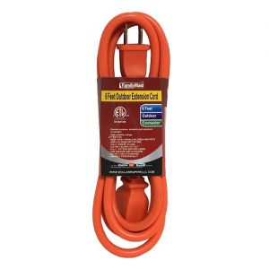 Outdoor Extension Cord 6ft Orange