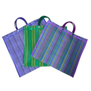 Mexican Plstc Shopping Bag Lg Asst