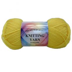 Knitting Yarn Dark Yellow 100% Acrylic