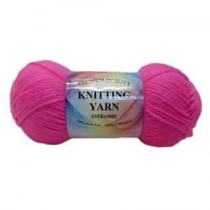 Knitting Yarn Hot Pink 100 % Acrylic