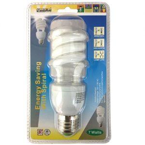Energy Saving Light Bulb 7 Wts Spiral