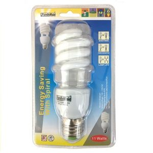 Energy Saving Light Bulb 11 Wts Spiral