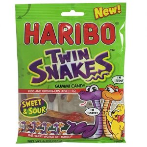 Haribo Gummies Twin Snakes 4oz Bag
