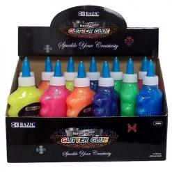 Glitter Glue 200ml Asst Neon Clrs
