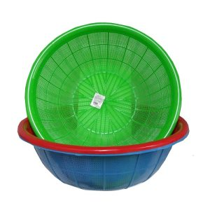 Plastic Colander 14?in Asst Clrs