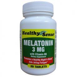 H.S Melatonin 3mg W-Vitamin B-6 20ct