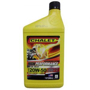 Chalet Motor Oil SAE 20W-50 1qt