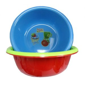 Plastic Basin 15in Asst Clrs