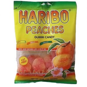 Haribo Gummies Peaches 4oz
