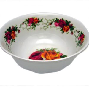 Melamine Bowl 6in Roses