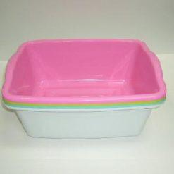 Dish Pan Rect Asst Clrs Plastic