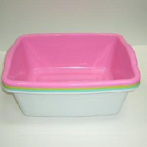 Dish Pan Rect Asst Clrs Plastic