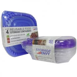 Food Containers 4pc Reusable Asst