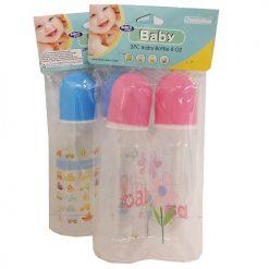 Baby Bottle Set 2pc 8oz Asst Clrs