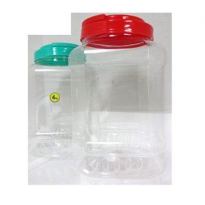 Plastic Container Square Jar W-Lid