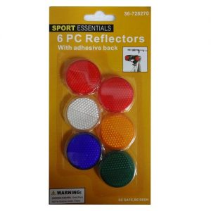 Bicycle Reflectors 6pc W-Adhesive