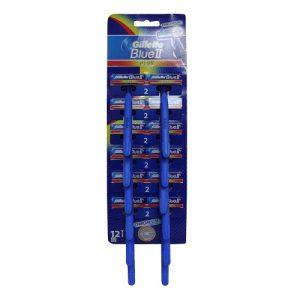 Gillette Blue II Plus Razors On Card
