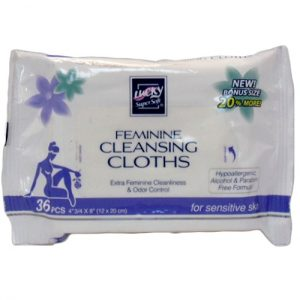 Lucky Femenine Cleansing Cloths 36ct