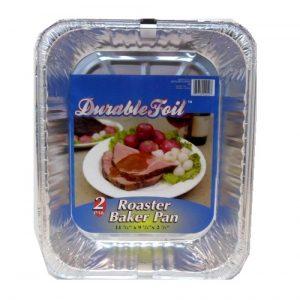 Roaster Baker Pan 2pk W-Lable Aluminum