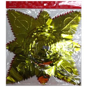 X-Mas Foil Decorations Asst Clrs
