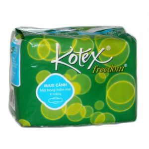 Kotex Freedom Maxi Pads 8ct W-Wings