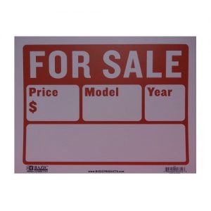 Sign AUTO FOR SALE 12 X 16