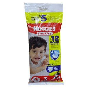 Huggies Diapers #4 3ct Snug AND Dry