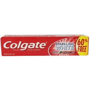 Colgate 4.0oz Sprling White Cinnamon Gel