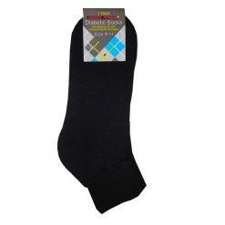 Diabetic Ankle Socks 1pk 9-11 Black